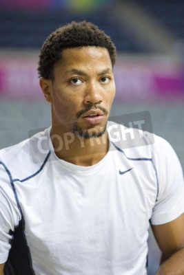 Posters Derrick Rose of USA Team in action at FIBA World Cup basketball match between USA and Mexico, final score 86-63, on September 6, 2014, in Barcelona, Spain