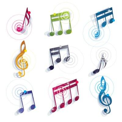 Posters Des notes de musique d'icônes.