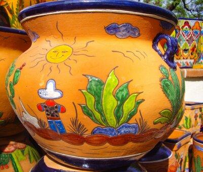 Posters Désert, vue, conception, mexicain, poterie