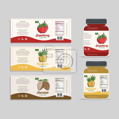 Posters Design d'emballage d'étiquettes de confiture