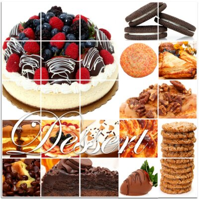 Posters Dessert Collage