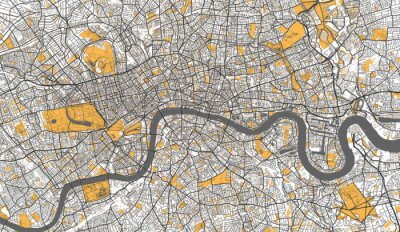 Posters Detailed Map of London, UK