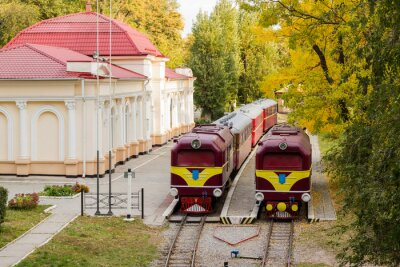 Posters Deux vieille locomotive