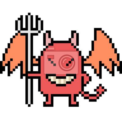 Posters Diable Dart Pixel Vectoriel