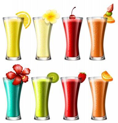Posters Différents types de cocktail dans des verres