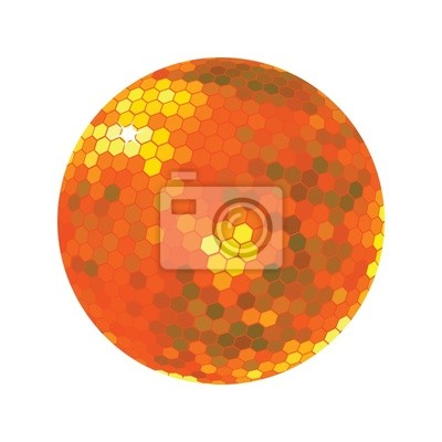 Discoball dans les tons orange