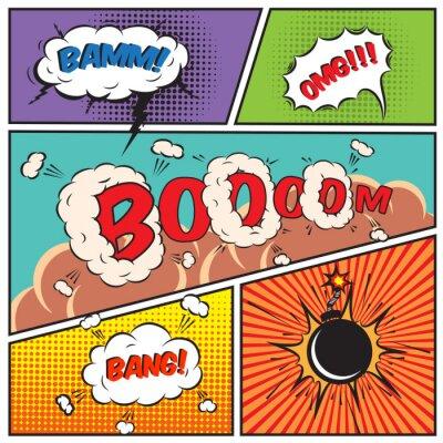 Posters Discours de bulles comique