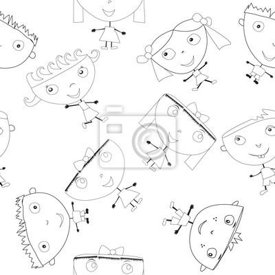 Doodle enfants faits à la main, seamless