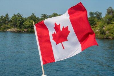 Posters Drapeau canadien dans le vent des Mille-Îles Canada Ontario