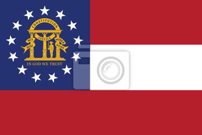 Posters Drapeau de l'État américain de Géorgie