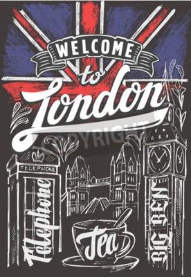 Posters Drapeau du vecteur drapeau de Grande-Bretagne et Londres