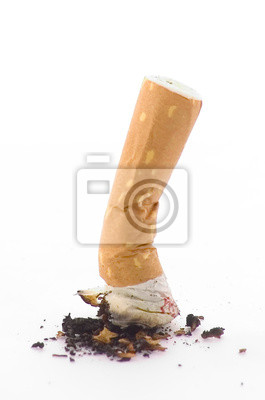 écrasée de cigarettes