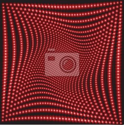 Effet d'optique avec des cercles rouges