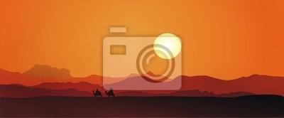 Posters Egypte coucher du soleil