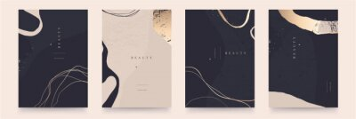 Posters Elegant abstract trendy universal background templates. Minimalist aesthetic.