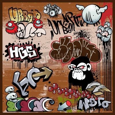 Posters éléments urbains graffiti d'art