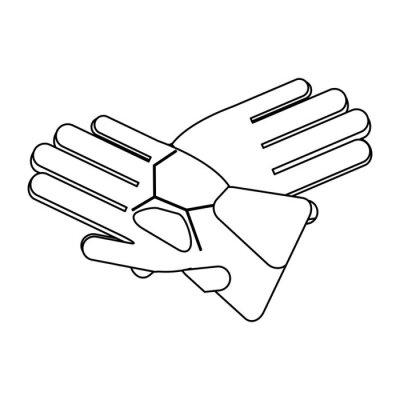Équipement de gants d'hiver noir et blanc