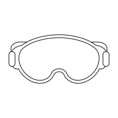 Equipement lunettes noir et blanc