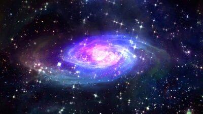Posters Espace bleu galaxie dans l'espace.