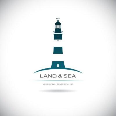 Posters Étiqueter avec une photo du phare
