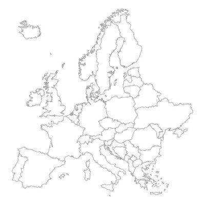 Posters Europa à Weiß - Vektor (plus loin)