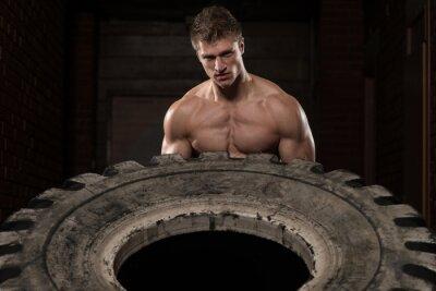 Posters Exercice d'entraînement des pneus