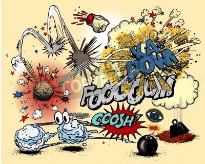 Posters Explosions de bande dessinée