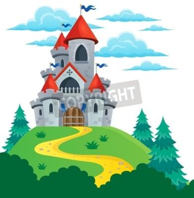 Posters Fairy tale castle theme image 2 - eps10 illustration vectorielle.