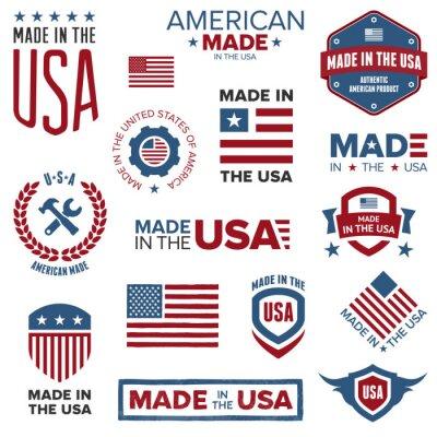 Posters Fait dans la conception des Etats-Unis