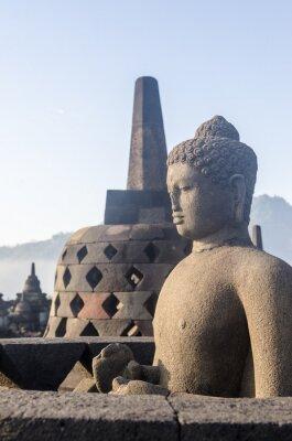 Posters famous buddhist temple near yogyakarta java indonesia