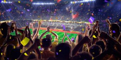 Posters Fans sur jeu de stade panorama