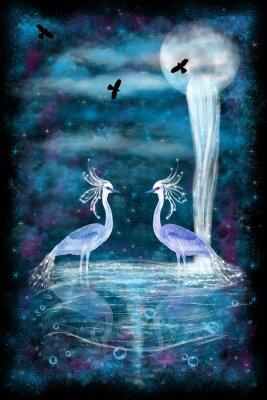 Posters Fantasy two herons