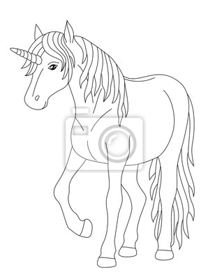 Coloriage Licorne Fee.Fee Licorne Coloriage Affiches Murales Posters Cheval Rapide