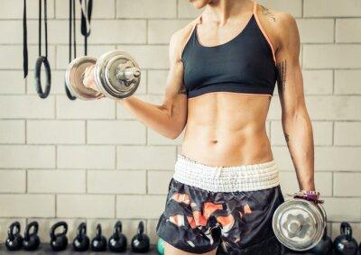 Posters femme ajustement de rendre la formation du biceps