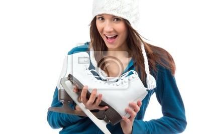 femme de patins à glace sport d'hiver