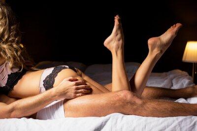Posters Femme, mensonge, sommet, homme, chambre à coucher
