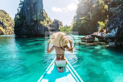 Posters Femme, voyage, bateau, Asia
