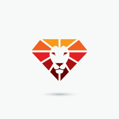 Posters Feu, diamant, lion, Symbole