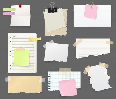 Posters Feuilles de papier pour vecteur de notes et de rappels