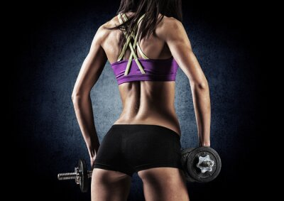 Posters Fitness femme sportive dans la formation