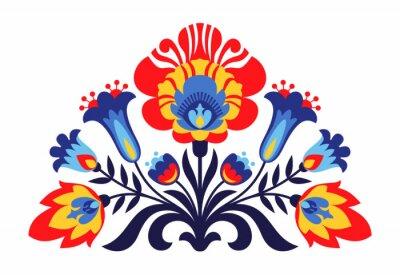 Posters Fleurs inspirées folkloriques polonaises