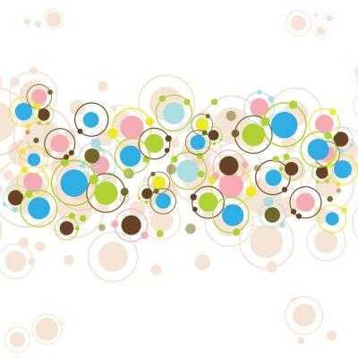 Fond avec les cercles abstraits et colorés