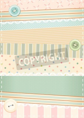 Posters fond dans le style shabby chic
