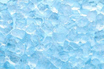Posters fond de texture hiver bleu glace cube