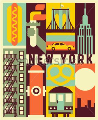 Posters Fond de vecteur de New York