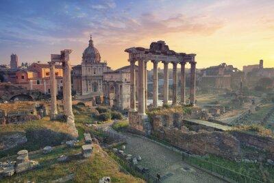 Posters Forum romain. D'Image - romain, forum, roma, italie, sunrise