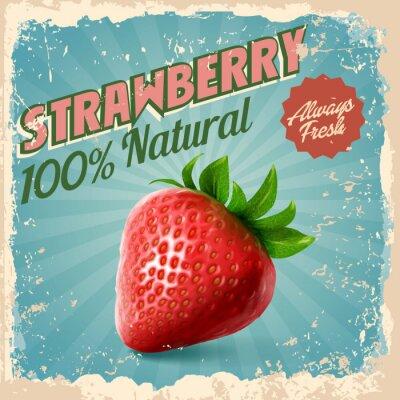 Posters fraise vintage
