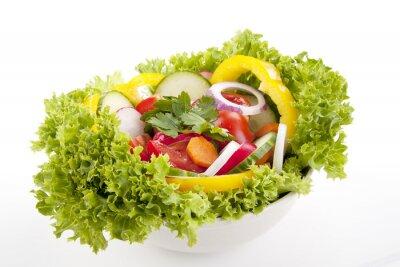 Posters frischer gesunder Salat mit Gemüse gemischtem