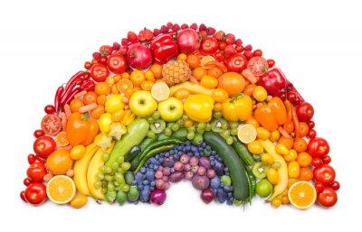 Posters fruits et légumes arc-en-