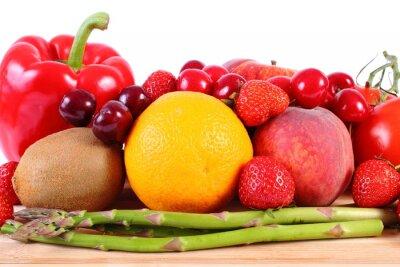 Posters Fruits et légumes frais, alimentation saine